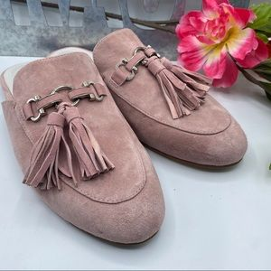 Jeffrey Campbell 10 Apfel Pink Tassel Suede NEW